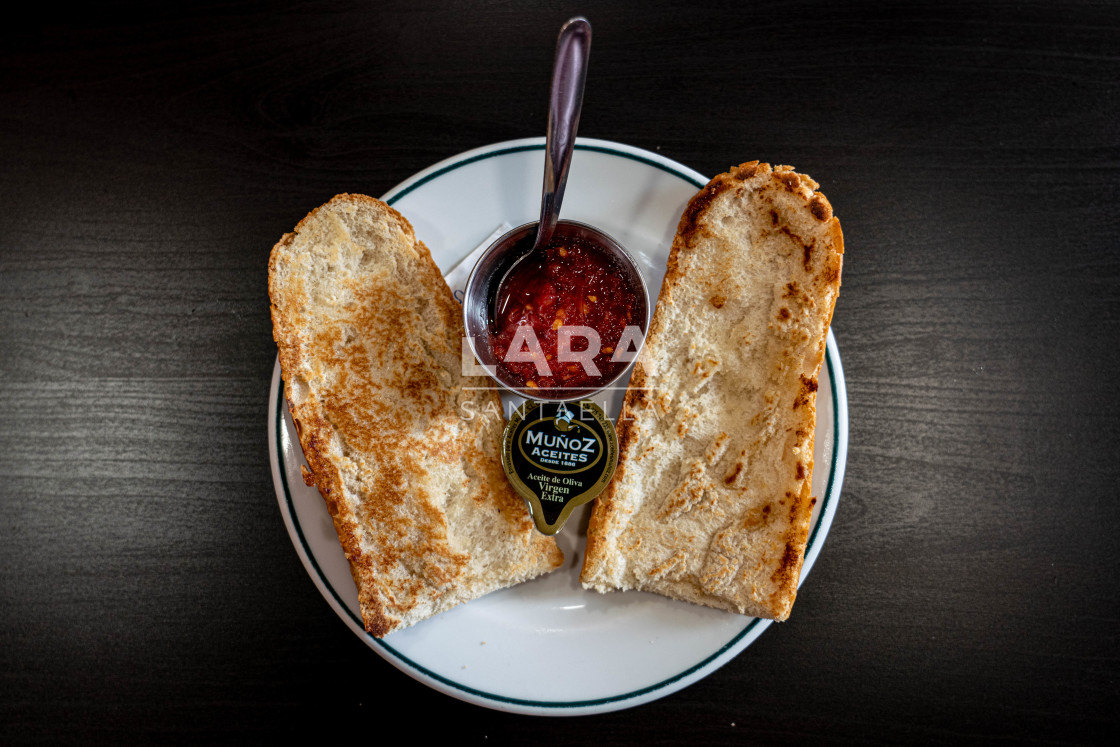 """""""Andalusian breakfast"""" stock image"""