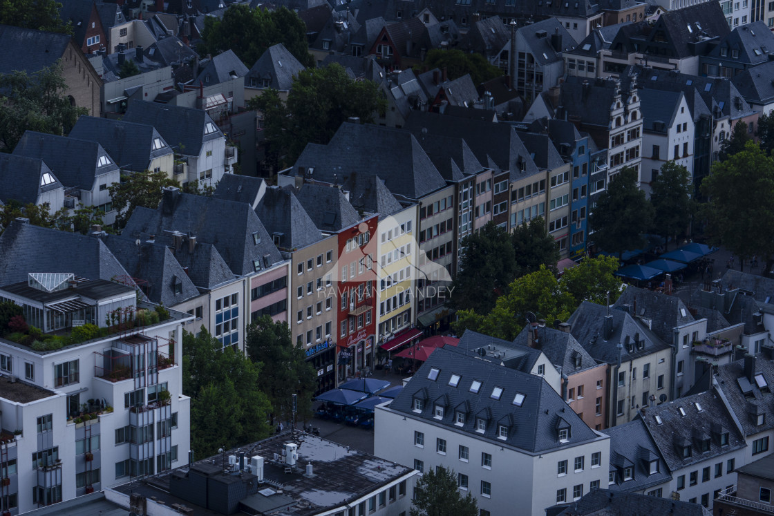 """""""Beautiful rooftops of Cologne, Germany"""" stock image"""