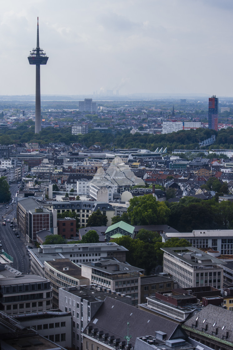 """""""Cologne Cityscape and Colonius, Germany"""" stock image"""