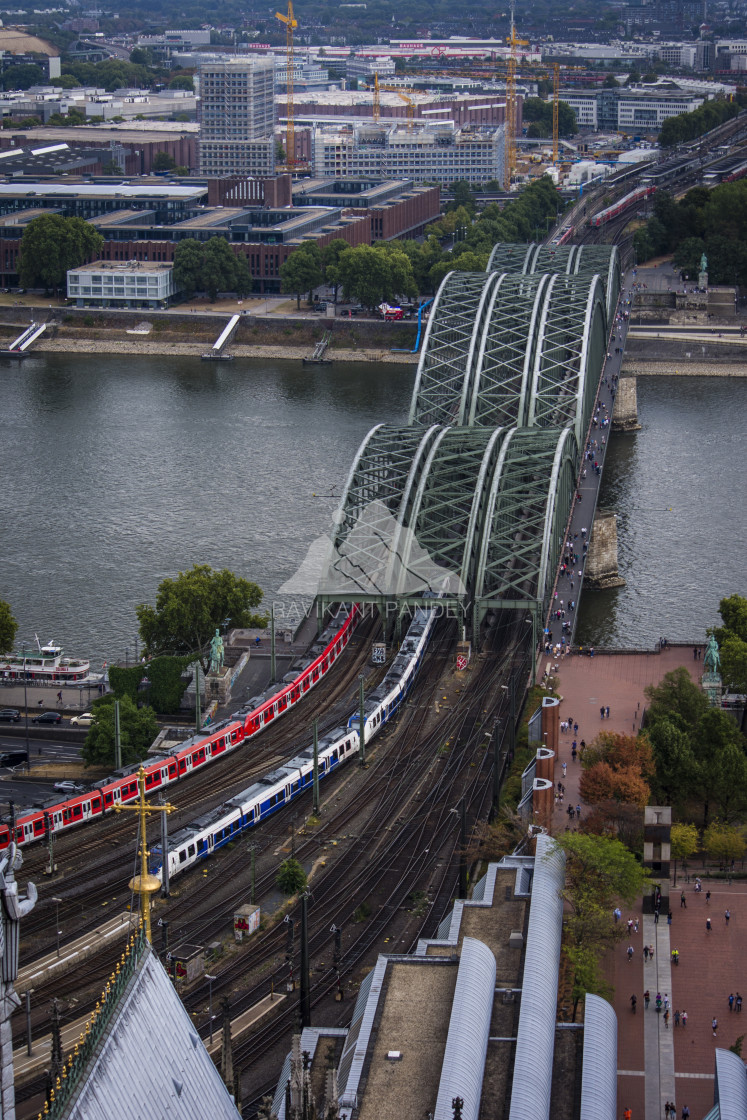 """Hohenzollern Bridge over River Rhine - Cologne"" stock image"