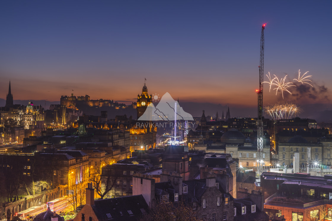 """Edinburgh's most photographed view and signature shot, Edinburgh - Scotland"" stock image"
