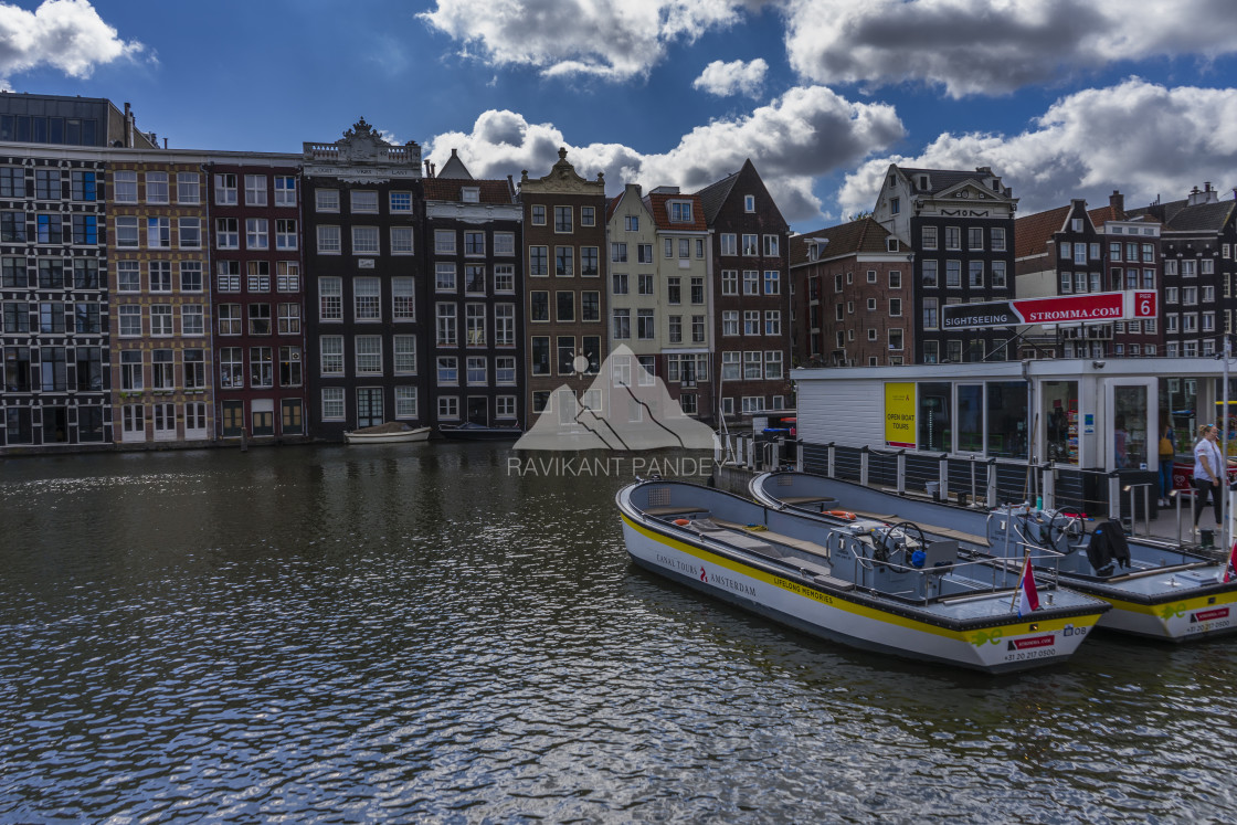"""""""The Canal Houses of Amsterdam, Netherlands"""" stock image"""