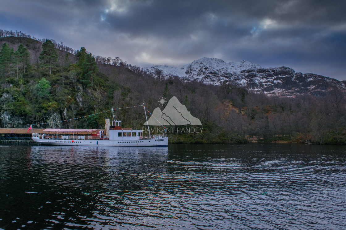 """""""Loch Katrine, The Lady of the Lake - Trossachs - Scottish Highlands in Scotland"""" stock image"""