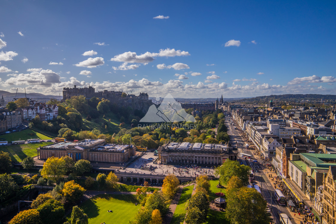 """Autumnal Edinburgh - Scotland"" stock image"