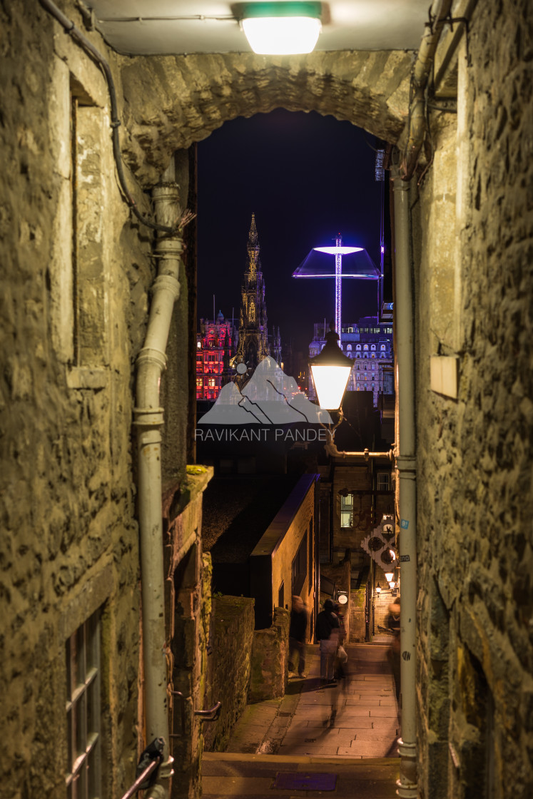 """Advocate's Close of Edinburgh, Scotland"" stock image"