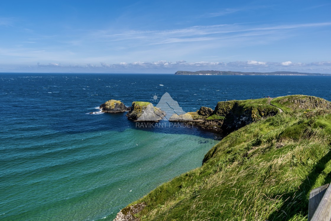 """Carrick-a-Rede, Antrim Coast, Northern Ireland"" stock image"