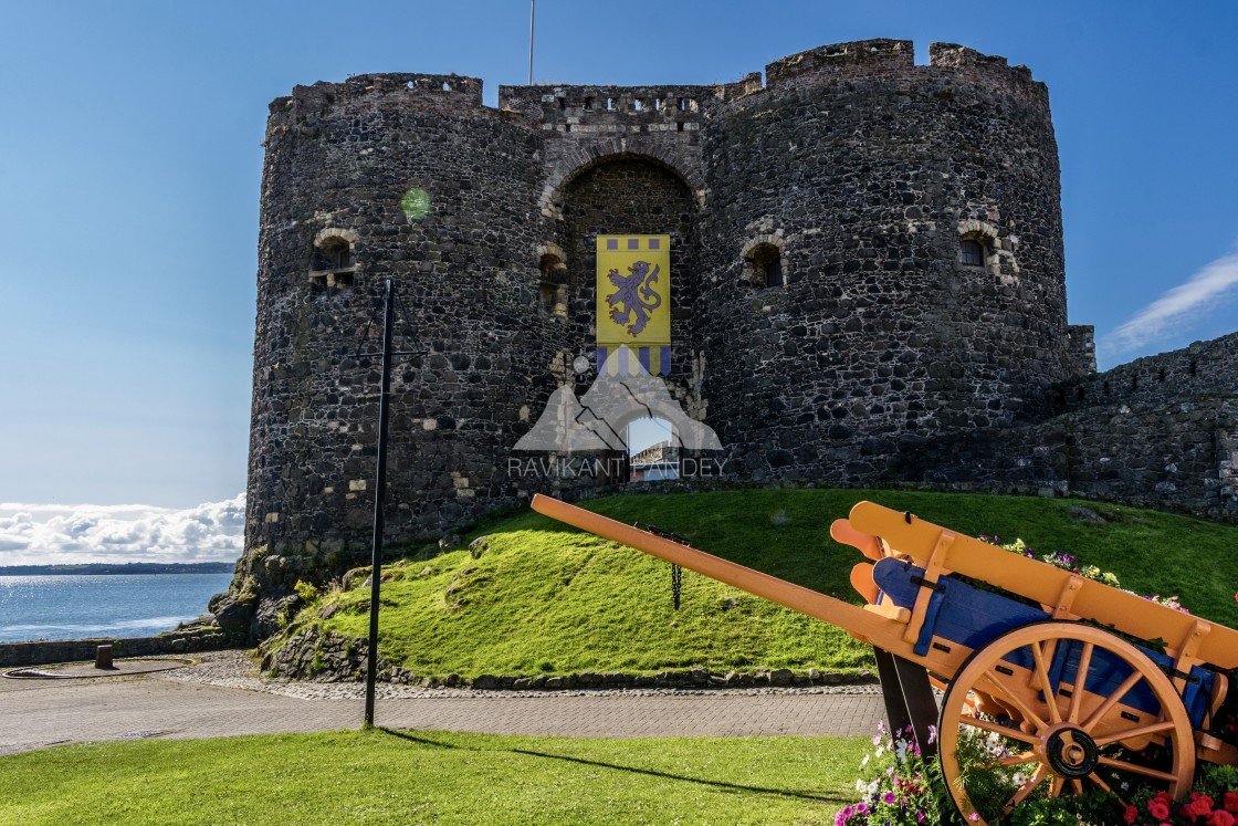 """Carrickfergus Castle, County Antrim - Northern Ireland"" stock image"