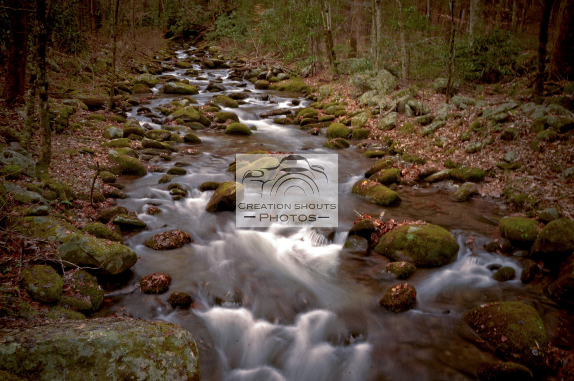 """Smoky Mountain Waterfall"" stock image"