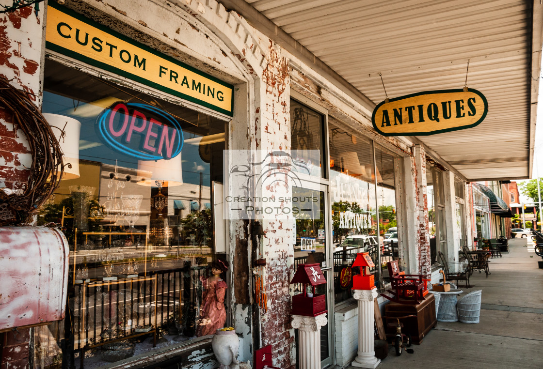 """Antique Store in the Old South in the United States"" stock image"