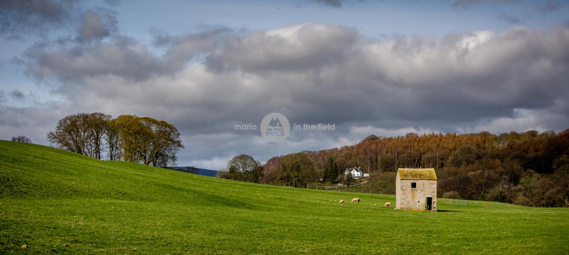 """Countryside of Addingham"" stock image"