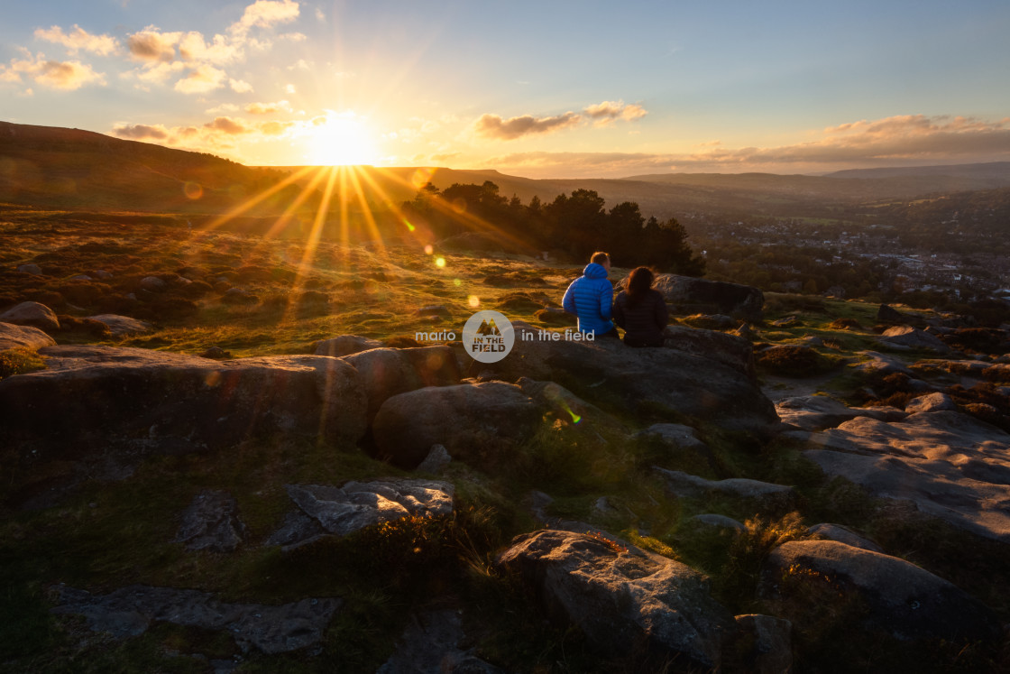 """Sunset in Ilkley"" stock image"