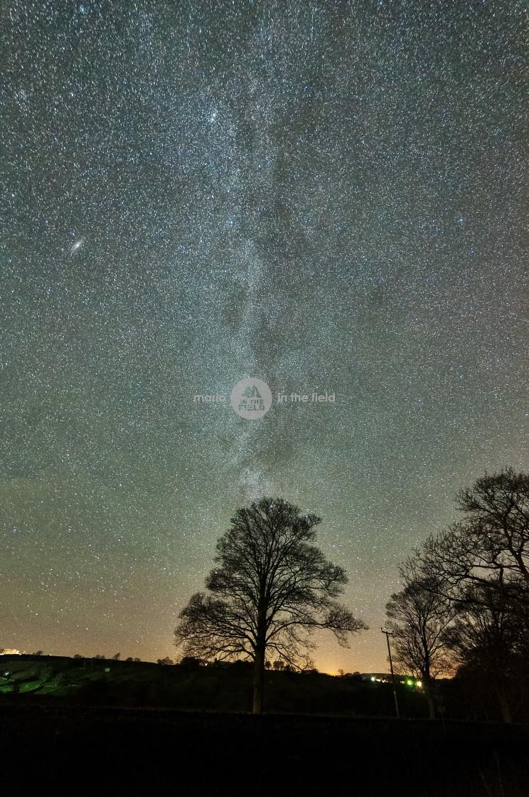 """West Burton at night"" stock image"