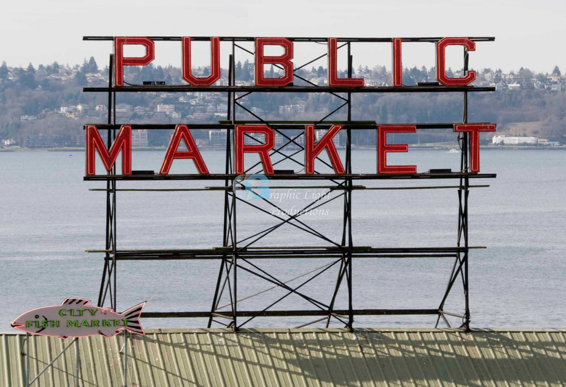 """Pike Place Market - Seattle"" stock image"