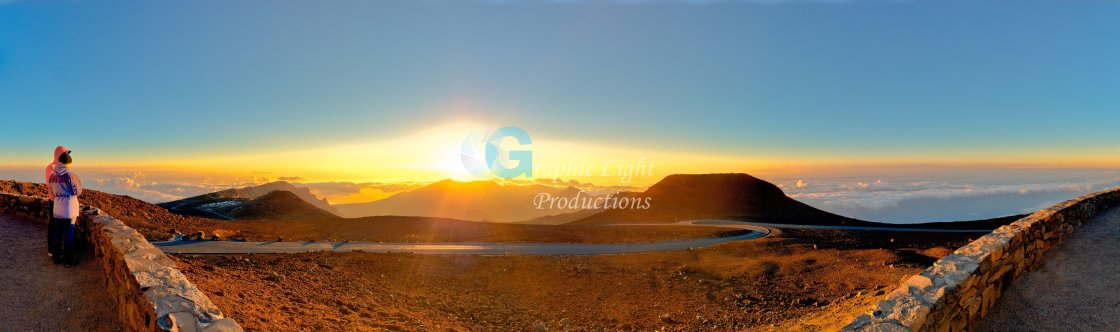 """Haleakala Sunrise"" stock image"