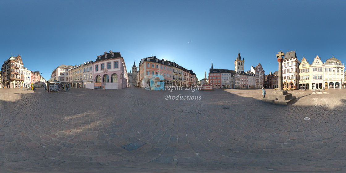 """Trier Marktplatz"" stock image"