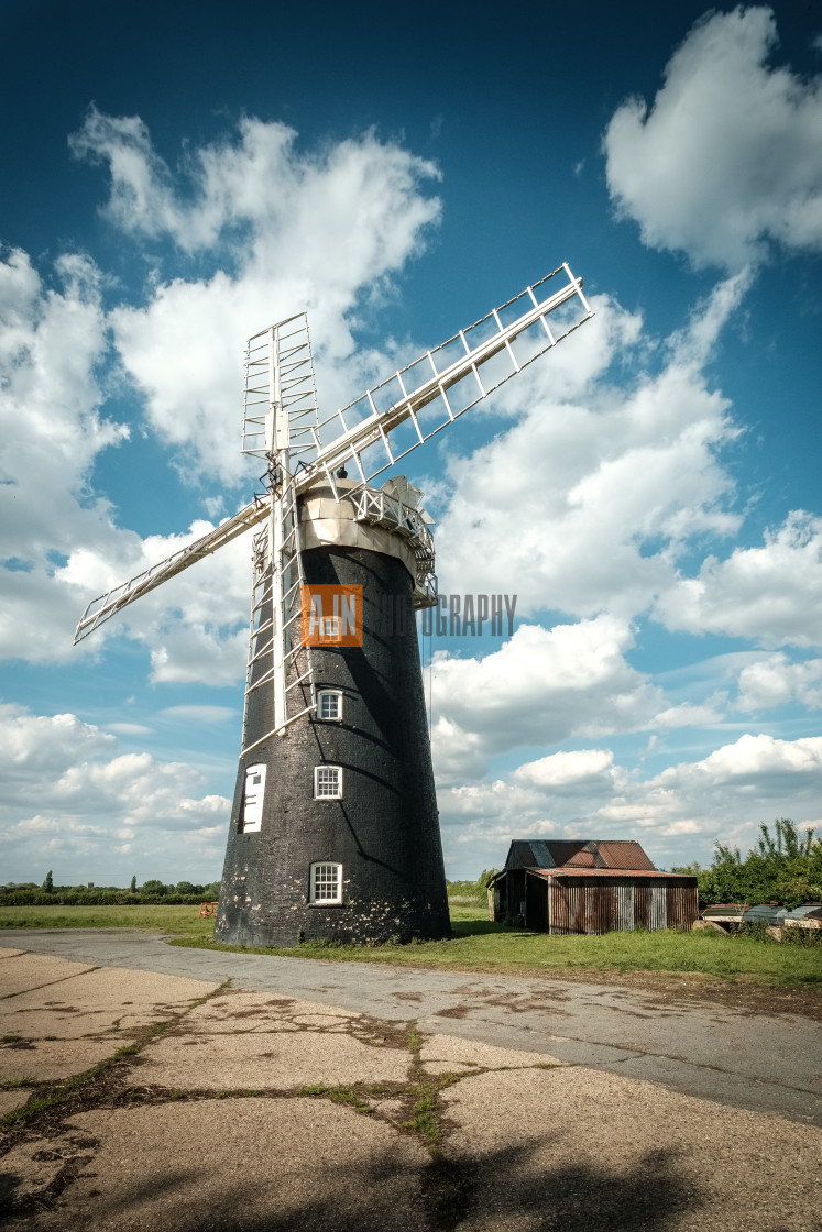 """Pakenham windmill, Suffolk"" stock image"