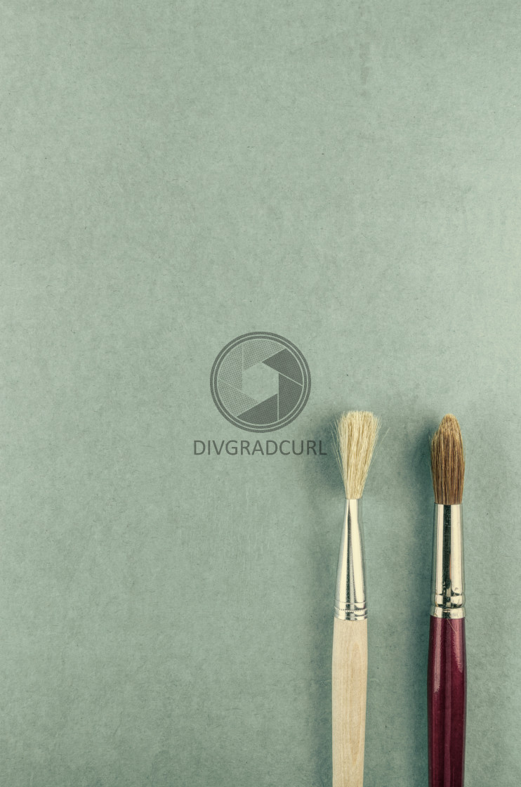 """working tools - painting brush"" stock image"