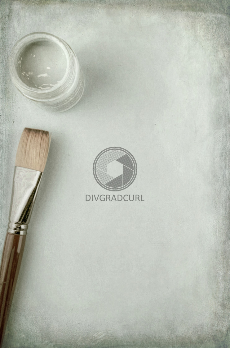 """art and craft - painting brush"" stock image"