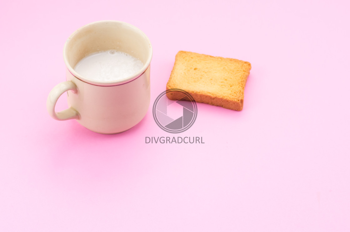 """""""fresh milk in a cup"""" stock image"""