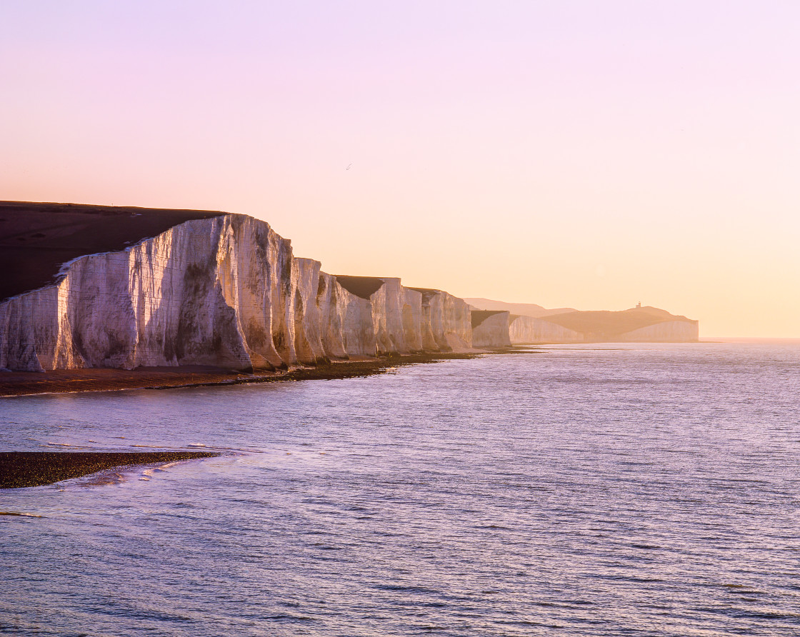 """""""The Seven Sisters, Sussex England"""" stock image"""
