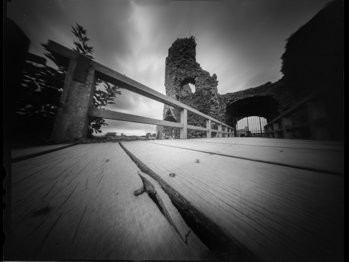 """Pevensey castle - Pinhole photography"" stock image"