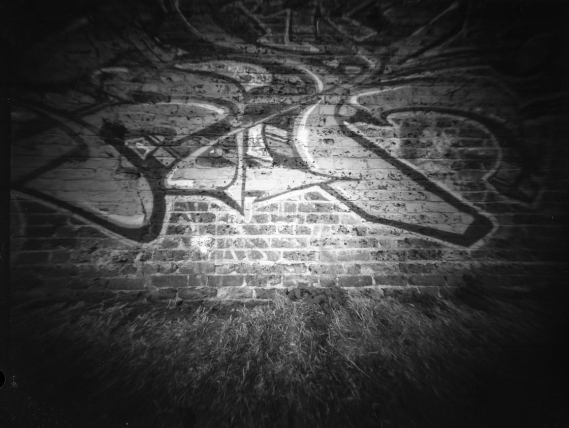 """""""Graffiti wall - Pinhole photography"""" stock image"""