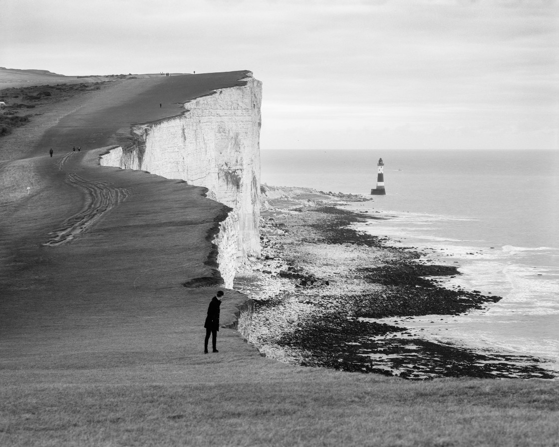 """""""Beachy Head Lighthouse, East Sussex UK"""" stock image"""