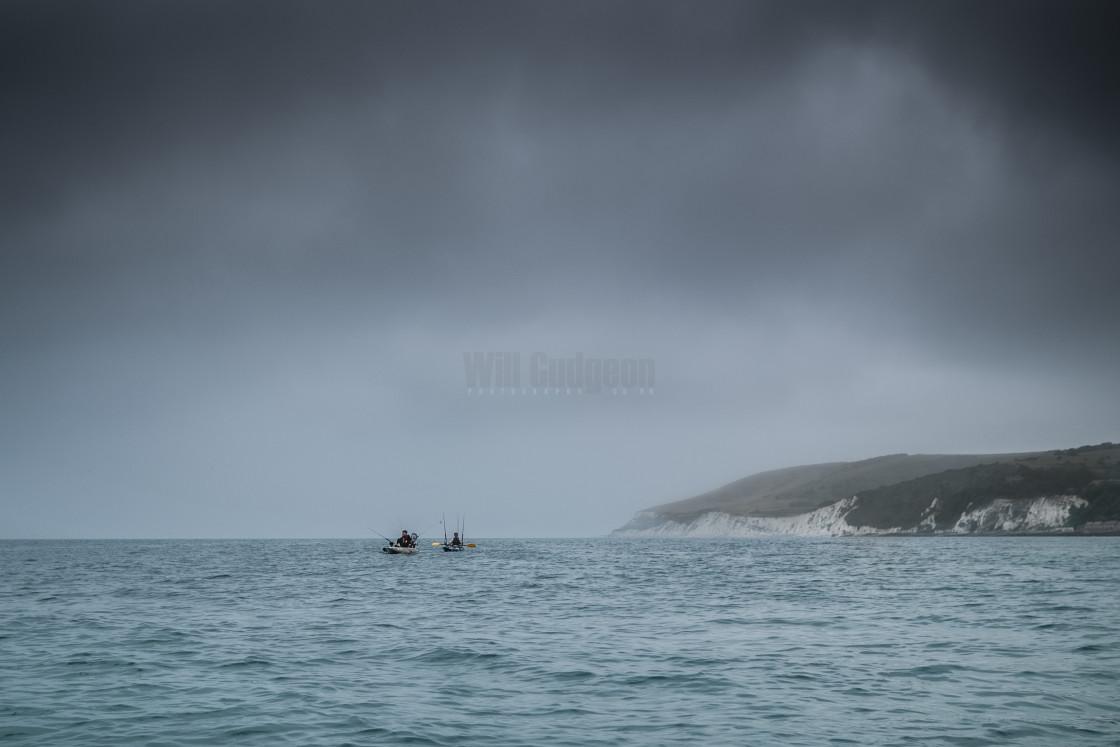 """Kayak fishers"" stock image"