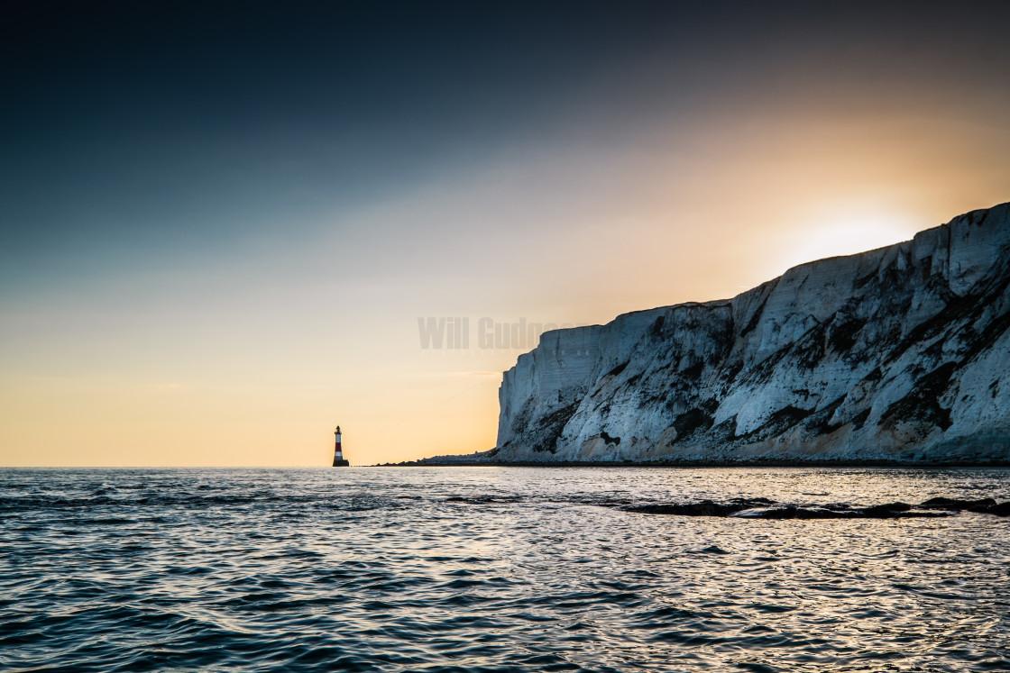 """Beachy head Lighthouse sunset"" stock image"