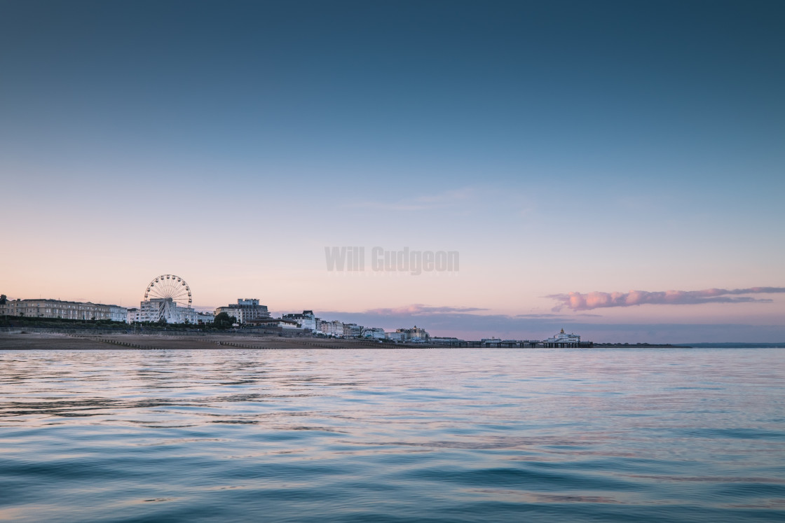 """Eastbourne twilight."" stock image"
