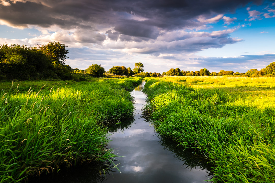 """The River Cuckmere, Alfriston."" stock image"