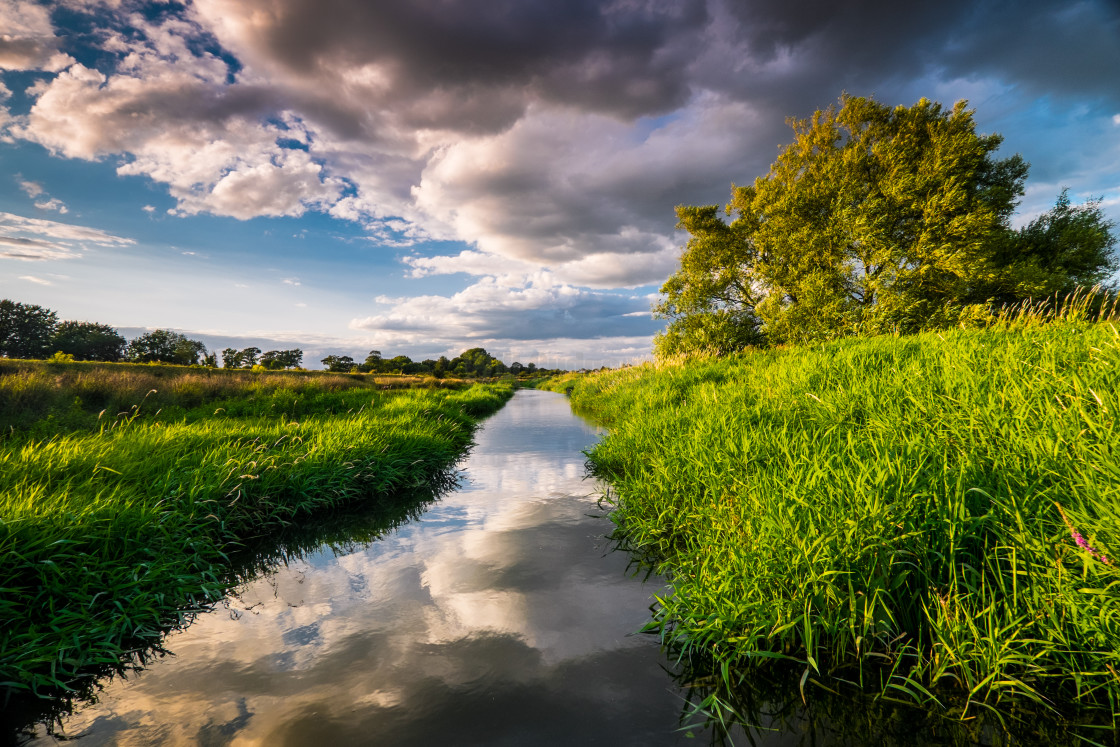"""""""River reflections"""" stock image"""