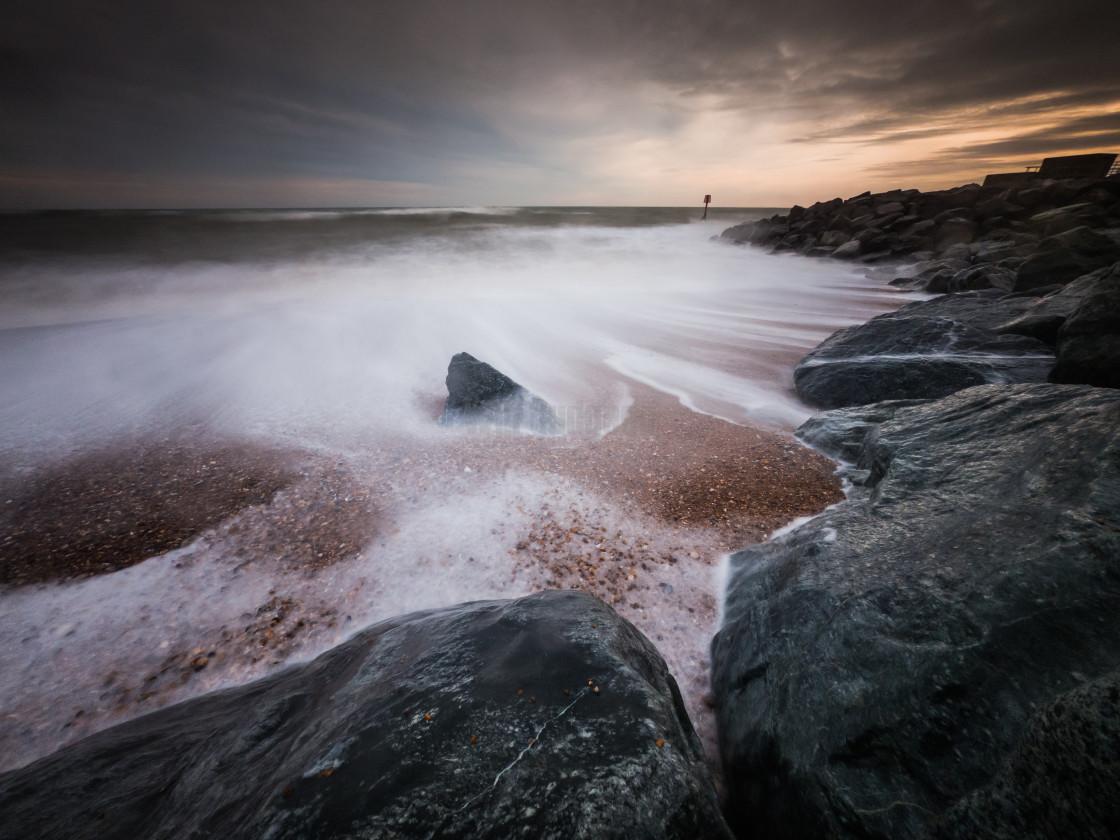 """Stormy beach days."" stock image"