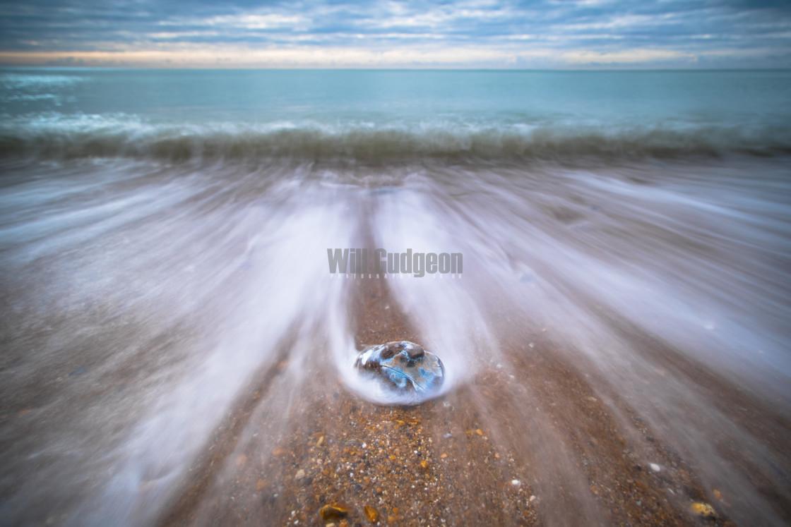 """""""Receding tide"""" stock image"""
