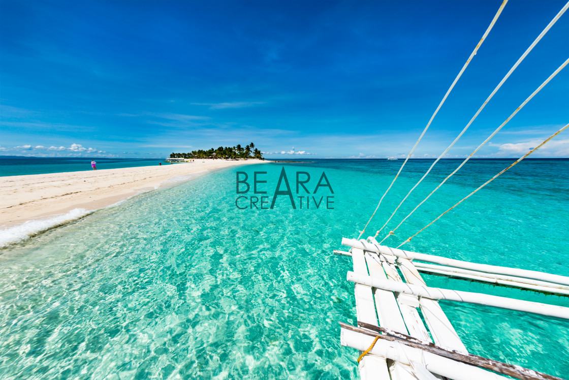 """Tropical beach Kalanggaman island"" stock image"