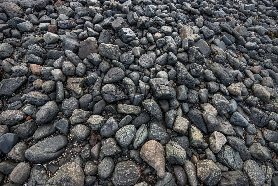 """Scottish beach pebbles"" stock image"