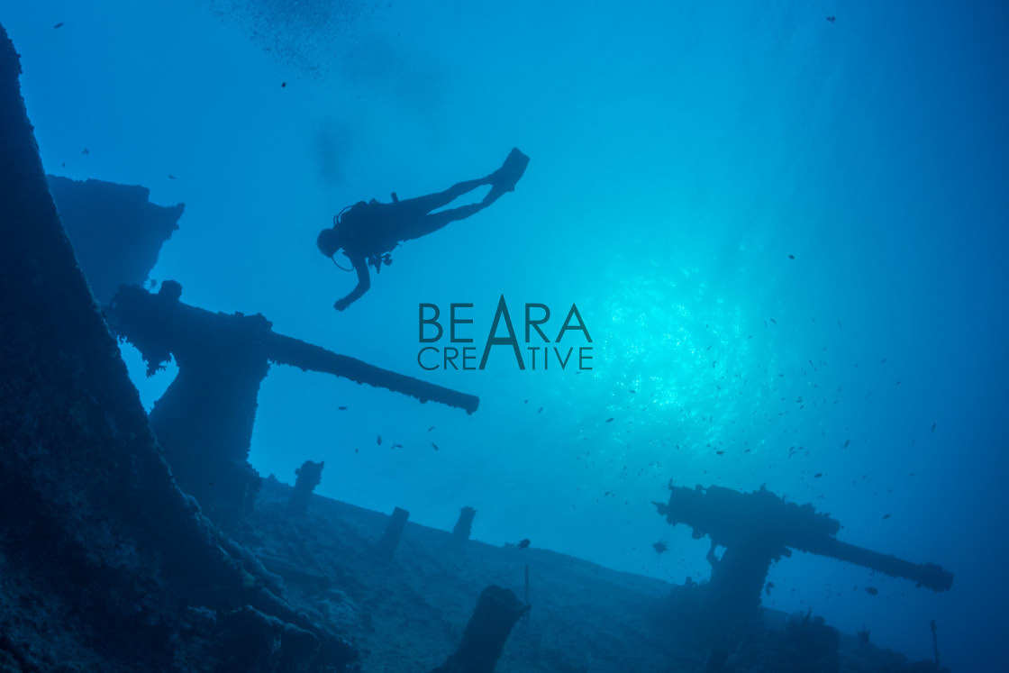"""Wreck diver"" stock image"