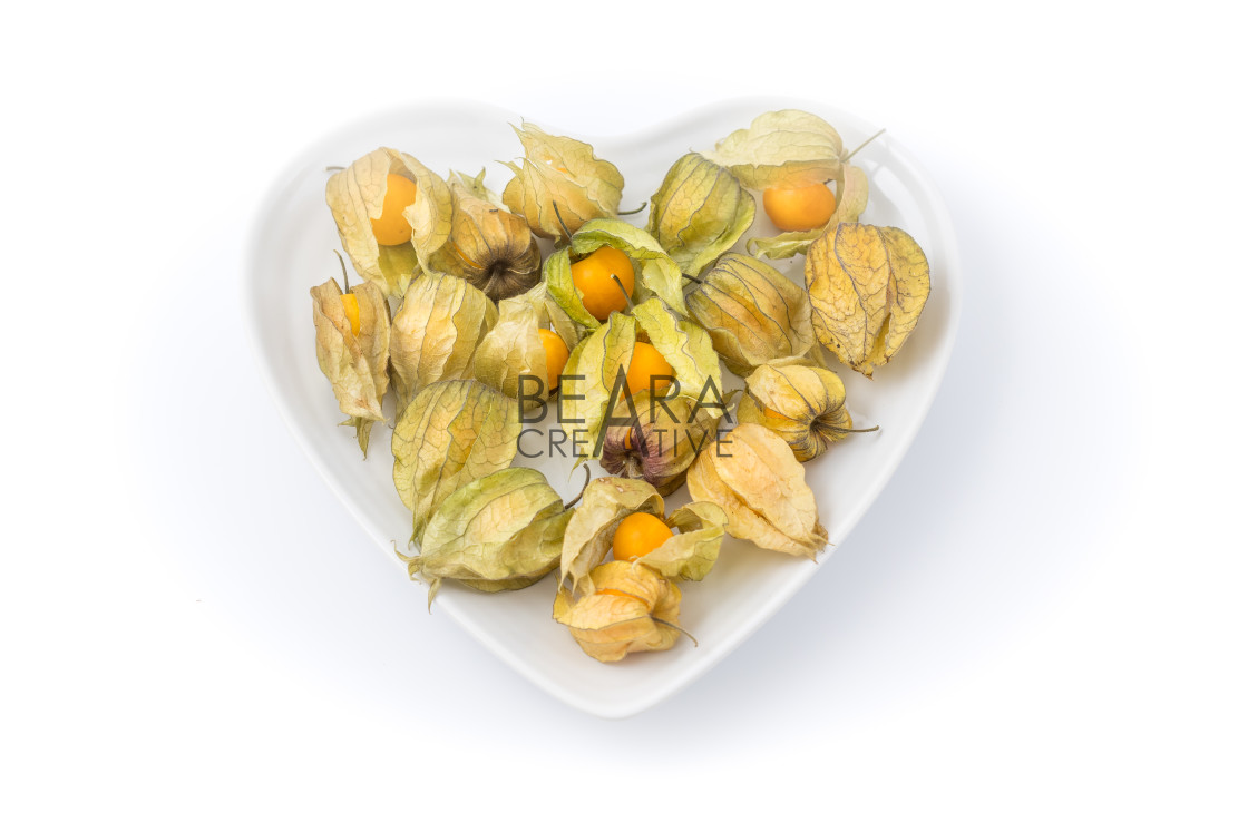 """Physalis heart shaped bowl"" stock image"