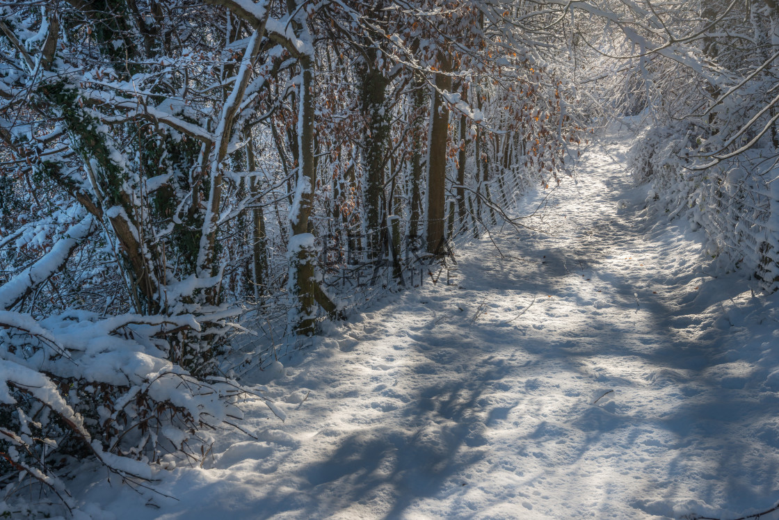 """Wales winter scene"" stock image"