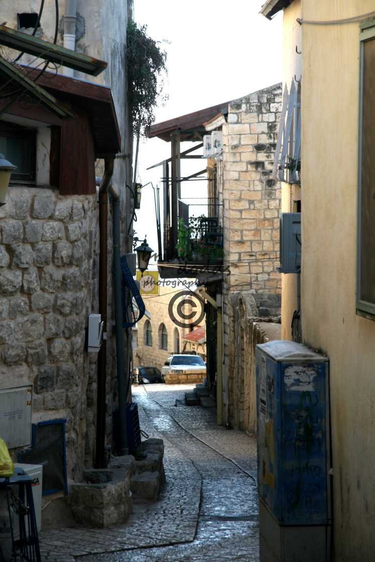 """Narrow street in Safat"" stock image"