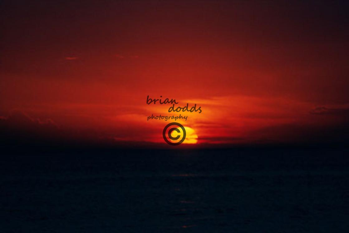 """Sunset, Lake Michigan"" stock image"
