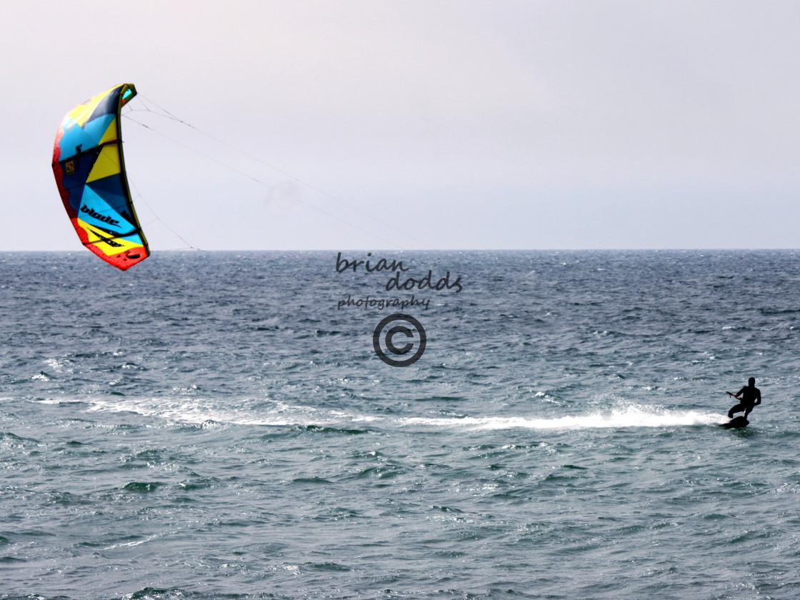"""Kiteboading - Sokolov Beach, Nahariya"" stock image"