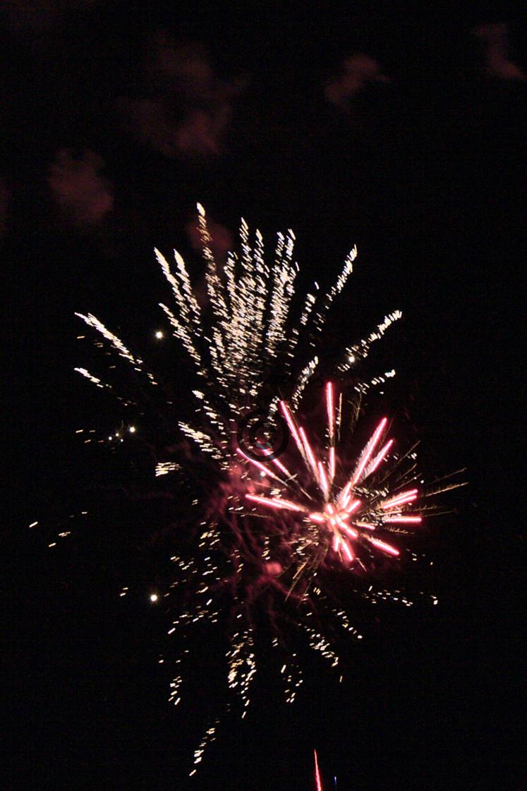 """Yom Ha'atzmaut fireworks"" stock image"