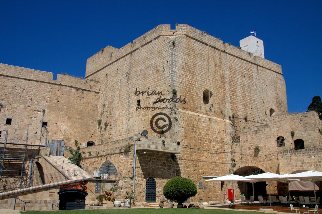 """Scenes of Old Akko (Acre) - the Hopitalier Citadel"" stock image"
