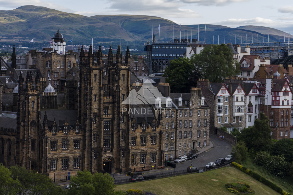 """New College, University of Edinburgh and Ramsay Garden - Edinburgh"" stock image"
