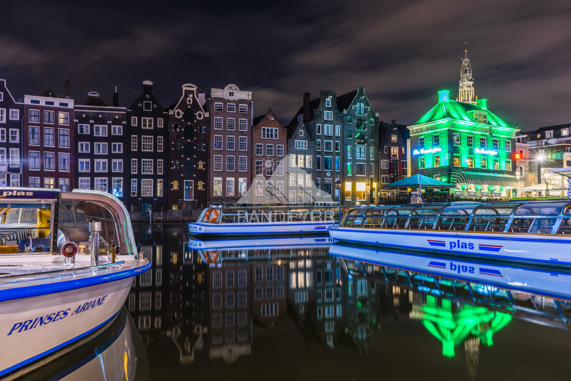"""""""Amsterdam Canal Houses, Amsterdam"""" stock image"""