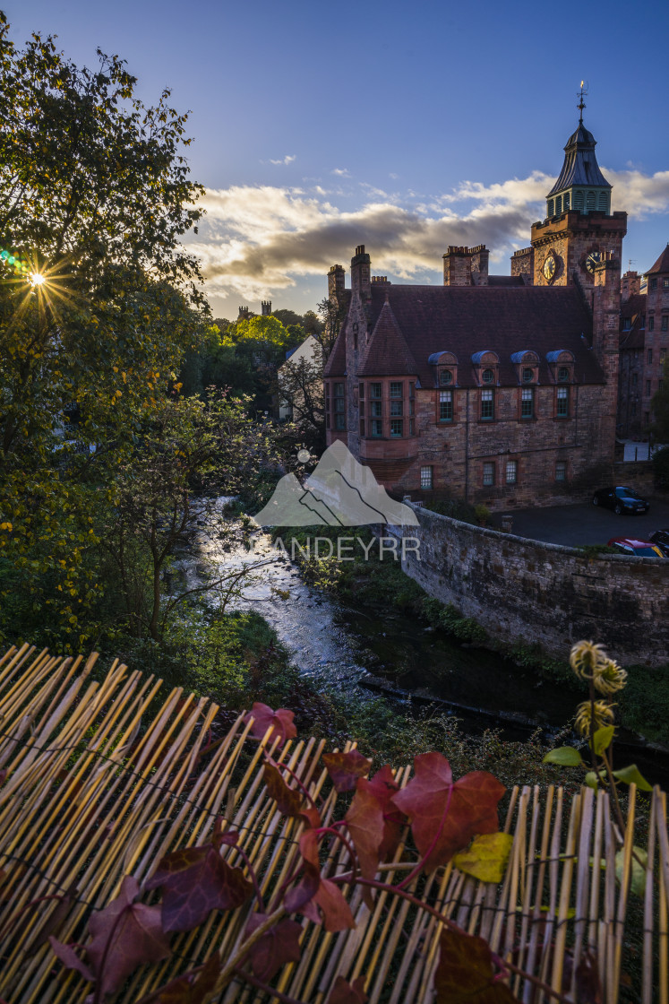 """Dean Village - Edinburgh in Autumn, Scotland"" stock image"