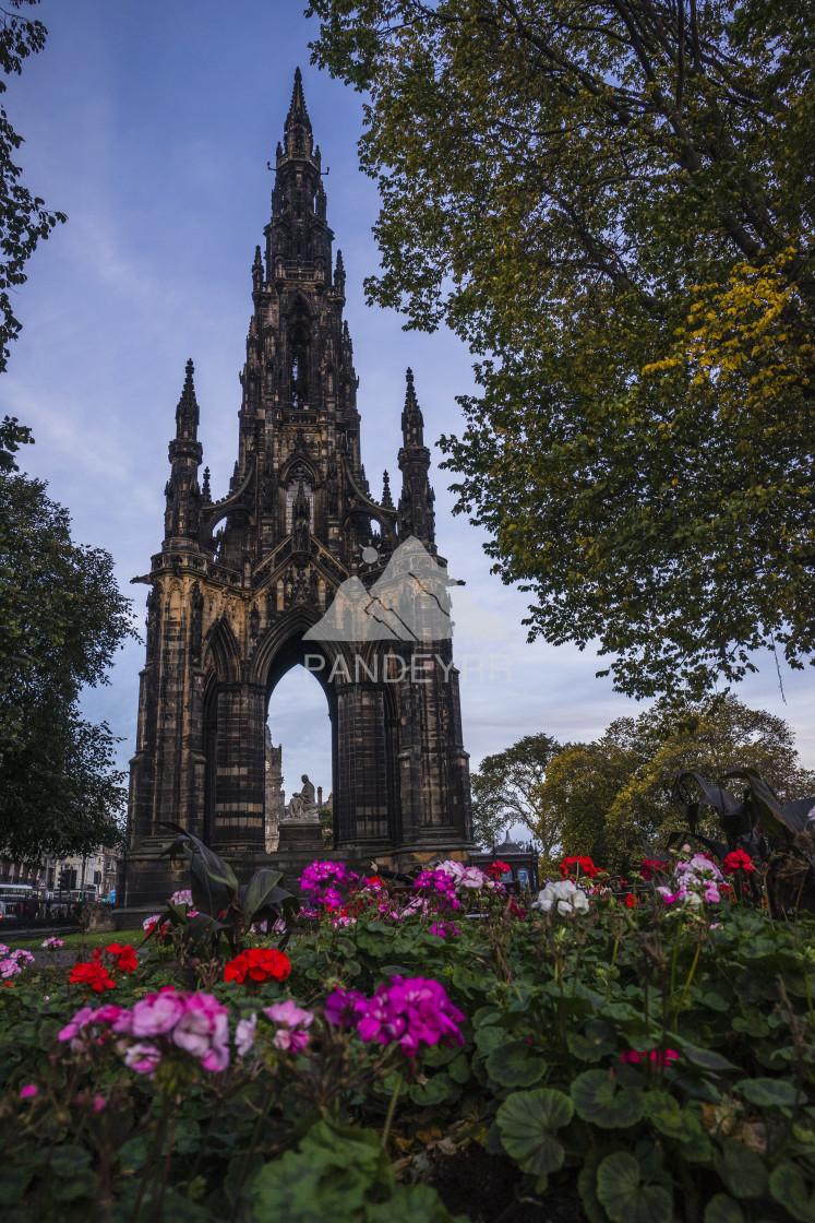 """The Scott Monument in Autumn, Edinburgh, Scotland"" stock image"
