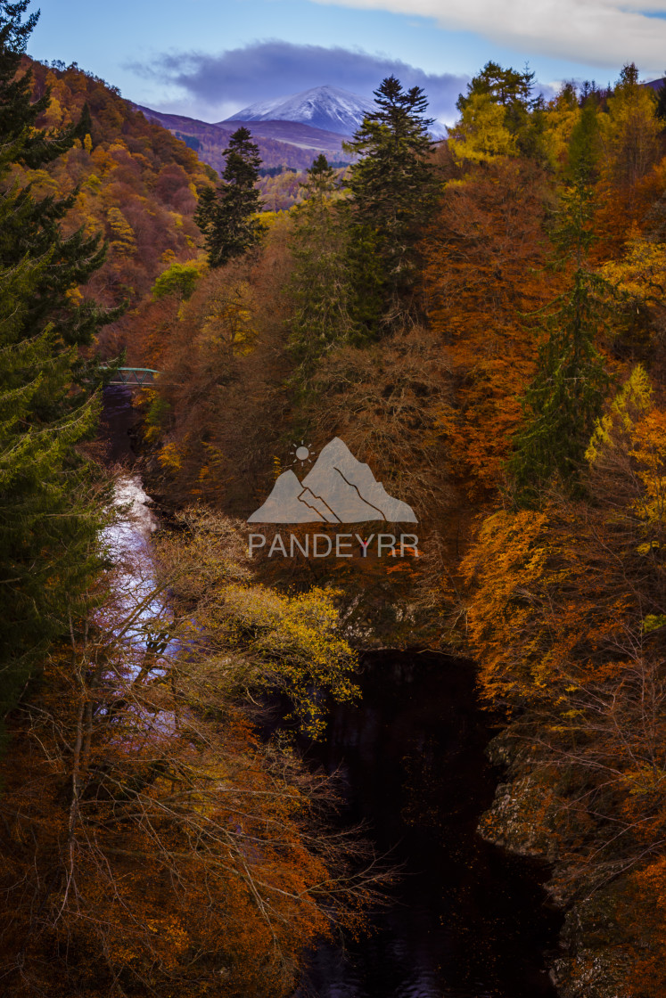 """Autumn colours at Pass of Killiecrankie - Scotland"" stock image"