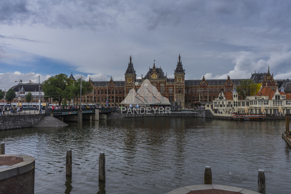 """Amsterdam Centraal, Netherlands"" stock image"